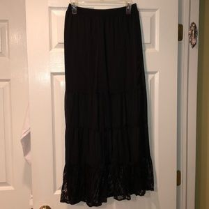 Xhilaration Skirts - Black lace maxi skirt